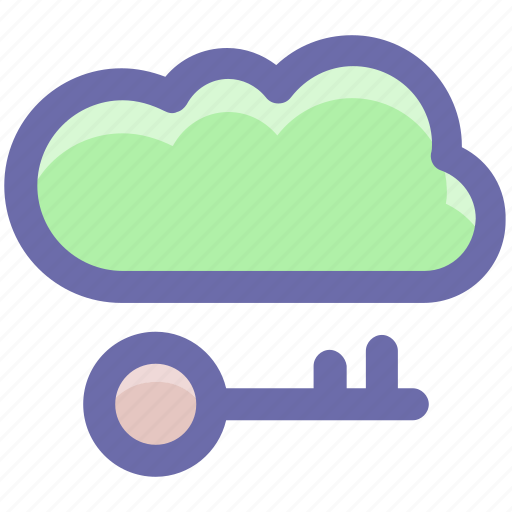 cloud and key, cloud internet safety, cloud key, cloud network safety, cloud with key icon