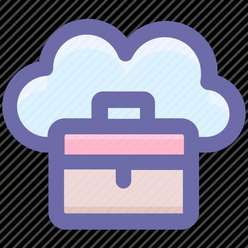 bag, business, business bag, cloud, cloud computing, office bag, suitcases icon