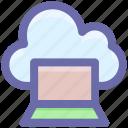 cloud technology, cloud computing, cloud on screen, cloud monitor, cloud storage, cloud computing concept