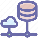 cloud computing, cloud data, database, mysql, server, sql, storage icon