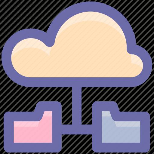 cloud, cloud computing, cloud data, cloud folders, data sharing, sharing icon