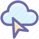 arrow, cloud arrow, cursor, mouse, mouse arrow icon