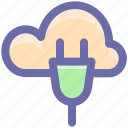 cloud computing, cloud computing concept, cloud internet connection, cloud network connection, cloud socket icon