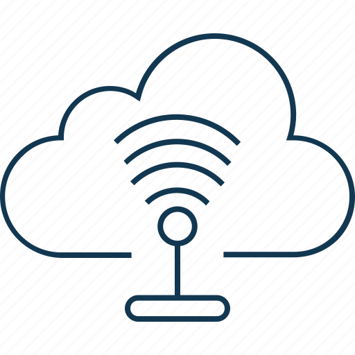 cloud network isolated vector icon editable icon