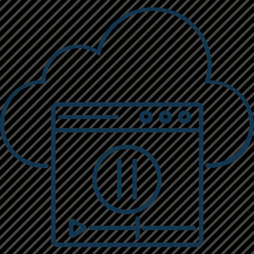 cloud business, cloud computing, cloud data, cloud web, cloud website icon
