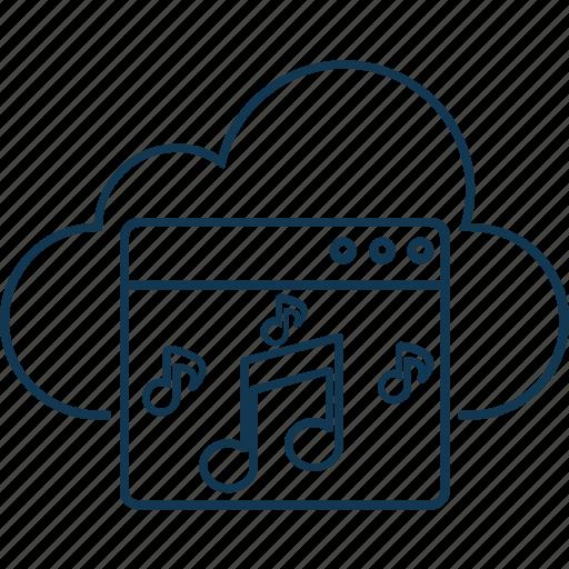 cloud music, cloud music website, music website, online media, online music icon