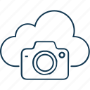 cloud camera, online media, cloud photography, cloud image, cloud picture, cloud photo icon