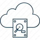 cloud computing, cloud storage, data storage, file storage, hard drive icon
