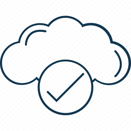 cloud, cloud checked, cloud verified, computing, file accepted icon