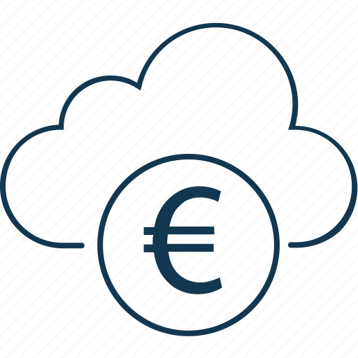 cloud currency, cloud euro, currency, euro, euro value, foreign exchange icon