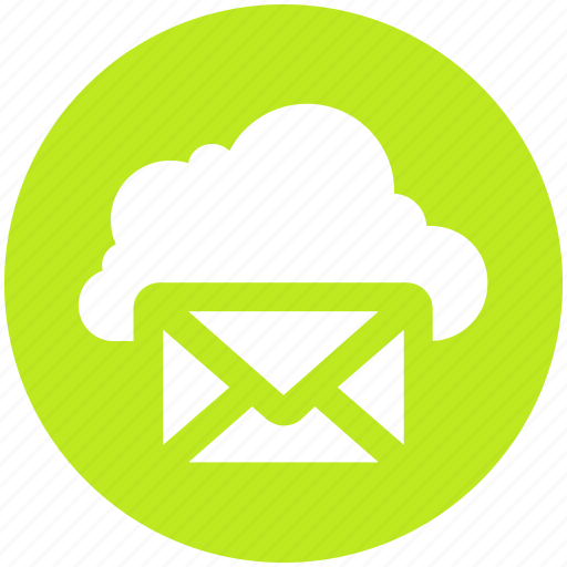 .svg, cloud computing mail, cloud internet mailing, cloud with envelope, cloud with mail, internet mail, mail cloud icon