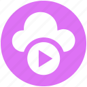 .svg, cloud, cloud music, multimedia, music, play, round icon icon