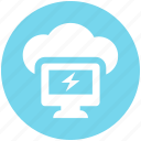 .svg, cloud computing, cloud computing concept, cloud monitor, cloud on screen, cloud storage, cloud technology icon