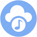 .svg, cloud and music note, cloud music concept, cloud with music sign, music cloud, music note, musical cloud icon