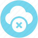 .svg, cloud, cloud computing, cloud sign, error, rejected, sign icon icon