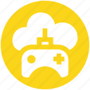 .svg, cloud and gamepad, cloud game, cloud with game control, cloud with gamepad, cloud with joystick, joypad icon