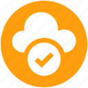.svg, approve network, checkmark, cloud check, cloud computing, cloud internet, cloud network icon