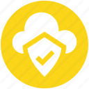 .svg, cloud and shield, safe network, safe networking, secure networking, security shield cloud