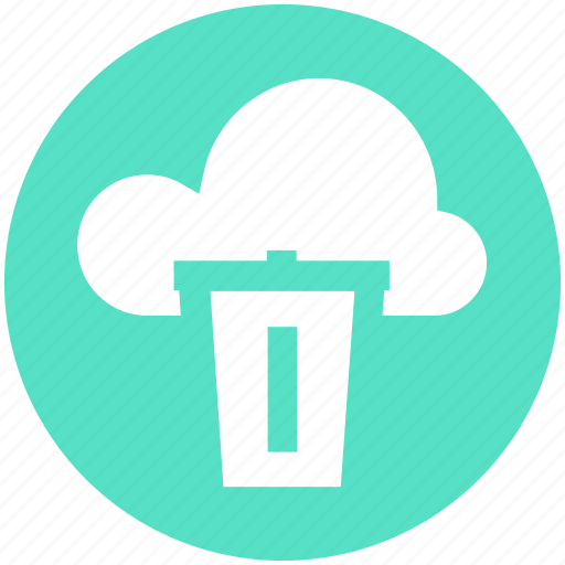 .svg, cloud and dustbin, cloud computing concept, cloud internet recycling, cloud recycle bin, cloud with dustbin icon - Download on Iconfinder