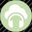 .svg, cloud music, headphone, online media, online multimedia, online music icon