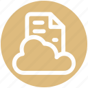 .svg, cloud, cloud page, computing, document, page, paper, storage icon