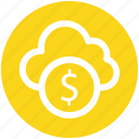 .svg, cloud and dollar, cloud currency concept, cloud dollar sign, dollar with cloud, earning concept