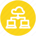 .svg, cloud computing, cloud network, cloud networking, cloud storage, synchronized devices icon