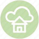 .svg, cloud and hut, cloud computing home, cloud network server, cloud server, home and dream cloud, internet cloud technology