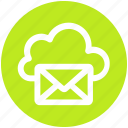 .svg, cloud computing mail, cloud internet mailing, cloud with envelope, cloud with mail, internet mail, mail cloud icon
