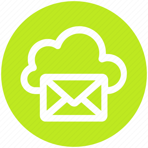 .svg, cloud computing mail, cloud internet mailing, cloud with envelope, cloud with mail, internet mail, mail cloud icon - Download on Iconfinder