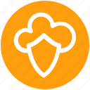 .svg, cloud, cloud and shield, safe network, secure networking, security, shield icon