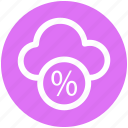 .svg, cloud, cloud computing, networking, percentage, percentage cloud icon