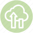 .svg, cloud computing concept, cloud data saving, cloud data storage, cloud upload, cloud uploading, cloud uploading concept icon