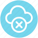 .svg, cloud, cloud computing, cloud sign, document, error, rejected, sign icon