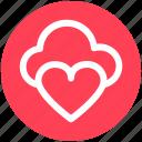 .svg, cloud computing, cloud heart, cloud love, heart, online dating, online romance
