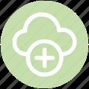 .svg, add, add-cloud, cloud, cloud computing, plus, storage icon