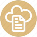 .svg, cloud, cloud page, document, page, paper, storage icon