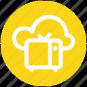 .svg, cloud broadcast, cloud broadcasting, retro tv with cloud, tv and cloud, tv with cloud icon