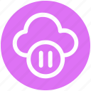 .svg, cloud, cloud pause, media, pause, service, streaming icon