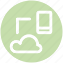 .svg, cloud, cloud computing, icloud, mobile, sharing, storage icon