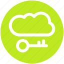 .svg, cloud and key, cloud internet safety, cloud key, cloud network safety, cloud with key icon