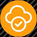 .svg, approve network, checkmark, cloud check, cloud computing, cloud internet, cloud network icon