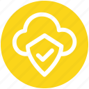 .svg, cloud and shield, safe network, safe networking, secure networking, security shield cloud icon