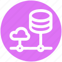 .svg, cloud computing, cloud data, cloud system, database, server, storage icon