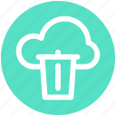 .svg, cloud and dustbin, cloud computing concept, cloud internet recycling, cloud recycle bin, cloud with dustbin icon