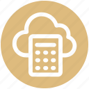 .svg, calculation, calculator, cloud, cloud calculator, cloud computing, network icon