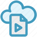cloud, cloud page, document, media, page, paper icon