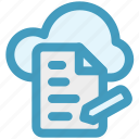 cloud, cloud page, document, page, paper, storage icon