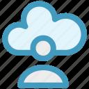 cloud, cloud account, cloud user, computing, man, person