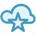 bookmark, cloud, cloud star, favorite, star, storage icon